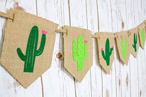 Burlap Fiesta Party|Cactus Decor| Taco Party | Cactus Party Supplies| Birthday Decorations| Cactus Wall d