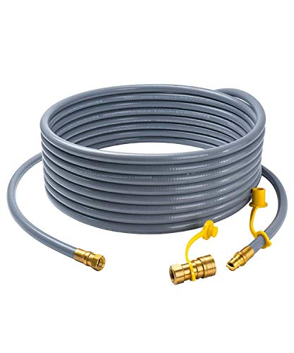 GASPRO 36 feet Natural Gas Hose Extension with 3/8 Male Flare Quick Connect/Disconnect for BBQ Gas Grill Low Pressure Appliance