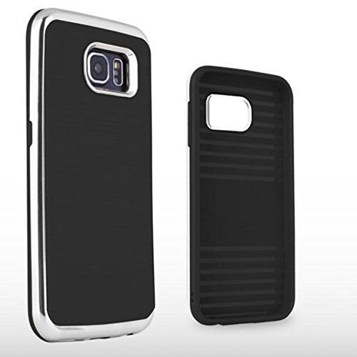 Drop-proof Dual Layer Hybrid Case Reinced TPU Cover w PC Bumper Frame for Samsung Galaxy S6 SM-G920A SM-G920A Case AT/&T Samsung Galaxy S6