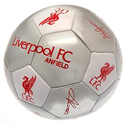 Liverpool F.C. Football Signature Silver Soccer Ball