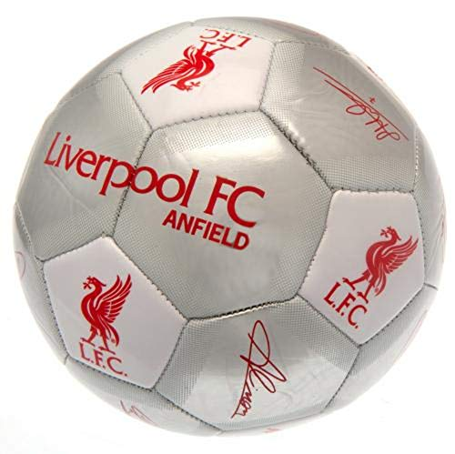 Liverpool F.C. Football Signature Silver Soccer Ball