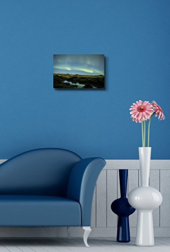 Beautiful Scenery Landscape Northern Lights Above Iceland Wall Decor