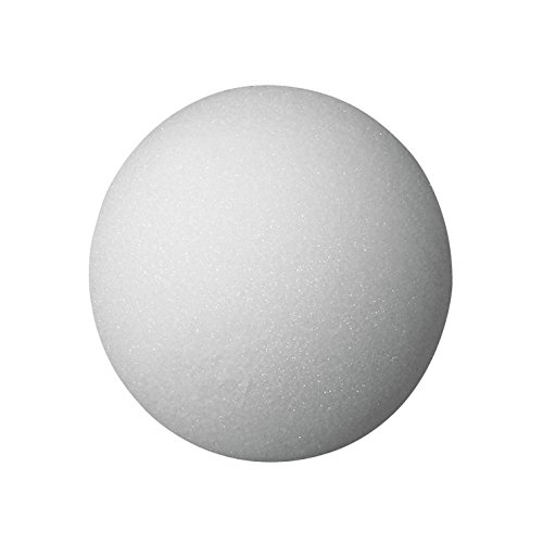School Specialty FloraCraft Styrofoam Ball, 6 Inches, Whi...
