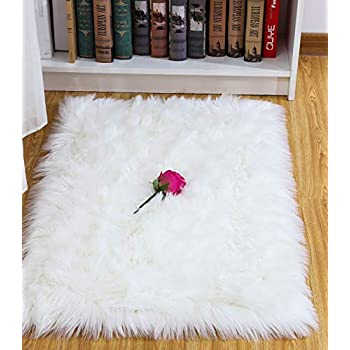 Amazon Com Pinkday Faux Sheepskin Area Rug Classic