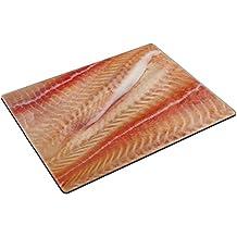 MSD Place Mat Non-Slip Natural Rubber Desk Pads design 20749023 Pangasius fillets of raw fish macro shot