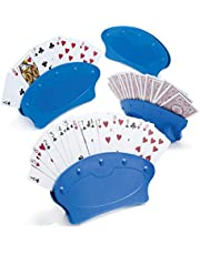 Playing Card Holder Tray Great for Seniors & Kids Hands Free Playing Card Holders (Set of 4)