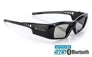 Samsung-Compatible Hi-Shock 3D Active Glasses | Rechargeable | for 2013-2018 Samsung Sharp LG Plasma PANASONIC Sony Full HD/HDR/4k TV | Black Diamond