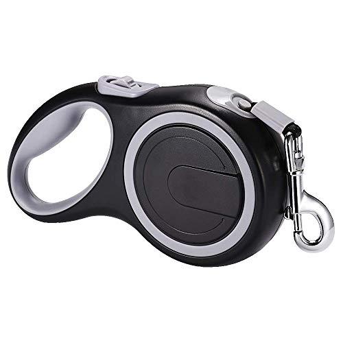 (EC.TEAK Retractable Dog Leash, Dog Leash (26FT Tape) One Button Lock ON/Off Comfortable Ergonomic Handle Pet Leashes Great for Walking &)