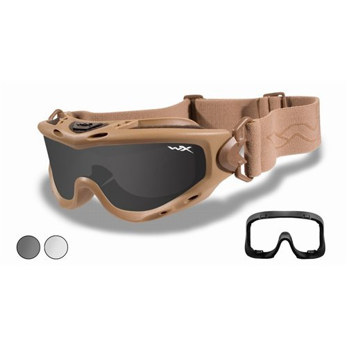 Wiley X Spear Goggle Tan Smoke Grey / Clear None - Goggles X