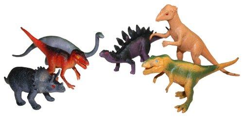 Idena 4320102 - 6 Dinosaurier im Beutel, ca. 15 cm