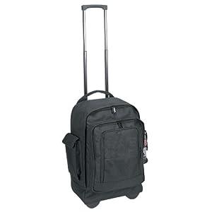 Amazon.com: School College Rolling Backpack on Wheels- Black ...