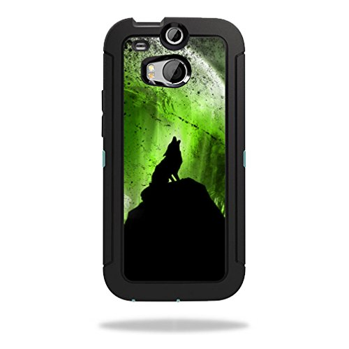 Mightyskins Protective Skin Decal Cover for OtterBox Defender HTC One M8 Case wrap sticker skins Howling Wolf
