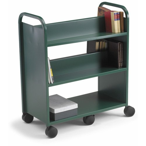 Gorilla Truck with 3 Flat Shelves - Yellow (Smith System Book Truck)