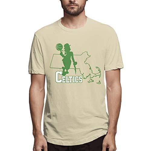 AeosJoy Men's Short Sleeve T-Shirt Paul Pierce, Causal RaglanSleeves Teen Boys Tee Shirt Natural XXL