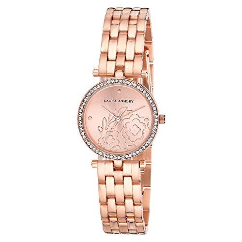 Laura Ashley Women's Japanese-Quartz Watch with Alloy Strap, Rose Gold, 12 (Model: LA31021RG