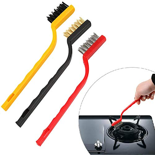 Oven Cleaning Brush With New Design 2019, 3pcs Gas Stove Cooker Metal Wire Copper Fiber Brush - Small Gas Stoves, Gas Stove Small, Antique Cooker, Stove Base, Stove Color, Copper Canner