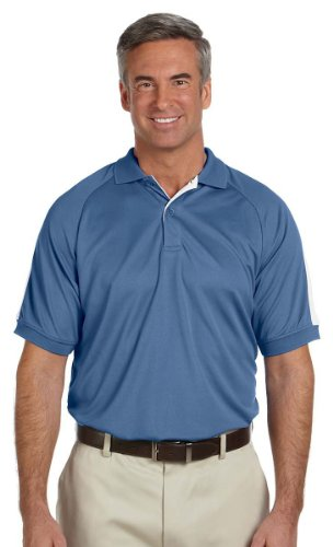 - Devon & Jones Men's Short Sleeve Dri-Fast Advantage Colorblock Mesh Polo Golf Shirt DG375 blue XXX-Large