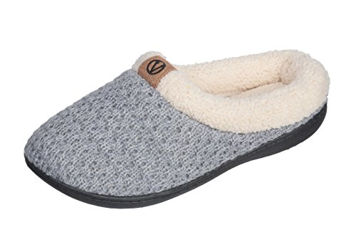 Joan Vass Women Slippers (Medium/7.5-8, Gray)