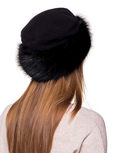 Jual Futrzane Faux Fur Hat with Fleece Winter Ladies Women - Bomber ... c10e76066309