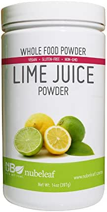 Nubeleaf Lime Juice Powder - Non-GMO, Gluten-Free, Raw, Vegan Source of Antioxidants & Vitamin C - Nutrient Rich Superfood for Cooking, Baking, Smoothies (14oz)