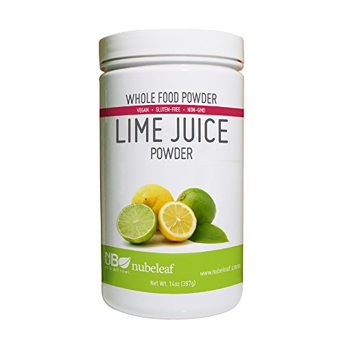 Nubeleaf Lime Juice Powder - Non-GMO, Gluten-Free, Raw, Vegan Source of Antioxidants & Vitamin C - Single-Ingredient Nutrient Rich Superfood for Cooking, Baking, Smoothies (14oz)
