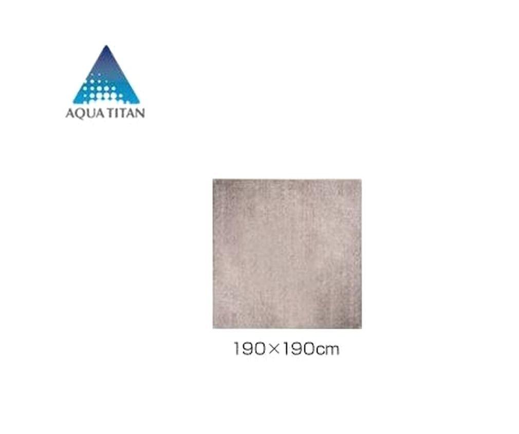 ファイテン(PHITEN) ラグマット 約190×約190cm ベージュ B07BHGSQCH