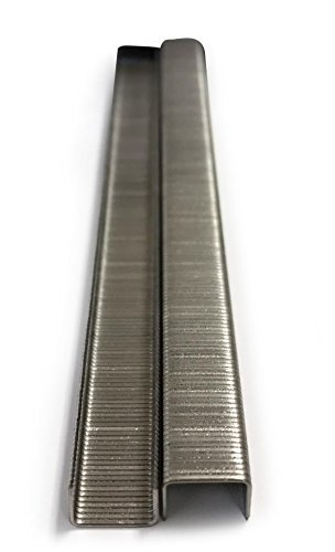 meite 22 Gauge 3/8-inch Crown 304 Stainless Steel Staples with 1/4-inch Leg similar to Senco C and 71 series 10,020 per Box (1 Box) 3/8 Crown 1/4 Leg