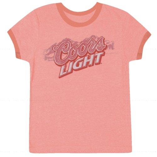 Coors - Womens T-shirt - Small Light Pink