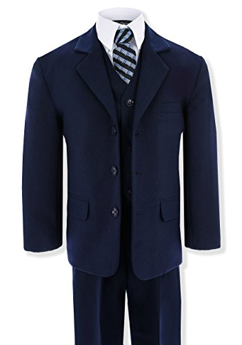 Suit Set Formal (Navy Blue Formal Suit Set from Baby to Teens GG230 (14, Navy Blue))
