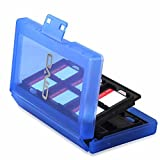 Game Card Case, HelloPower Nintendo Switch Game Card Case travel Carrying Storage Card Box Holder TF Card Case for Nintendo Switch with 24 slots (Blue)