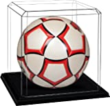Athlon CTBL-s12020 Soccer Ball Unsigned Display Case with Base - Black
