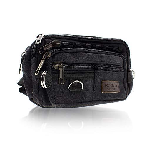 2fe4a93ff80 SHOPUS | Black Fanny Pack Bag for Men and Women, Money Belt Bags ...