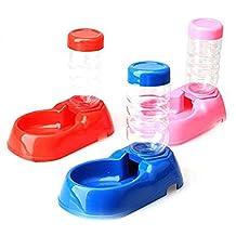 Pet Water Dispenser - SODIAL(R) Pet Dog Puppy Cat Kitten Automatic Water Dispenser Food Dish Bowl Feeder Bottle