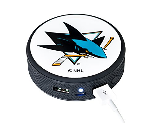 (UPI Marketing NHL San Jose Sharks Remote Phone Charger, Black)