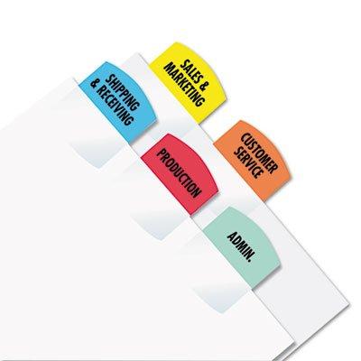 Laser Printable Index Tabs, 1 1/8 x 1 1/4, 5 Colors, 375/Pack