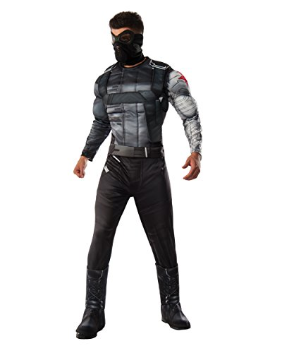 Marvel Men's Captain America: Civil War Deluxe Muscle Chest Winter Soldier Costume, Multi, Standard