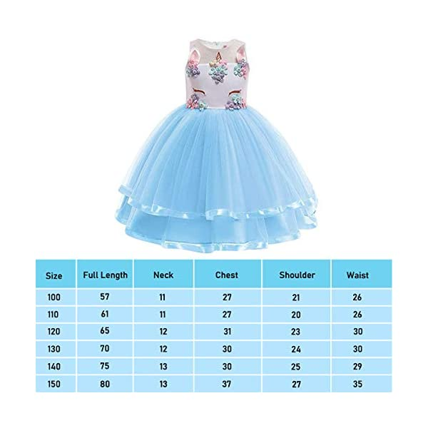 URAQT Robe Licorne Enfant de Princesse, Robes Fille, Robe de Princesse avec Licorne, Unicorn Party