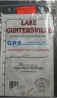 Lake Guntersville Recreation Fishing Guide Map GPS Atlantic Mapping Geo Plot System