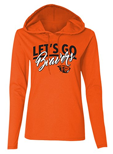 Oregon Ladies T-shirt (NCAA Oregon State Beavers Women's Long Sleeve Hooded T-Shirt, Beaver Orange, XX-Large)