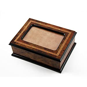 Handcrafted Contemporary Italian Picture Photo Frame Music Jewelry Box - Through the Eyes of Love - NEW
