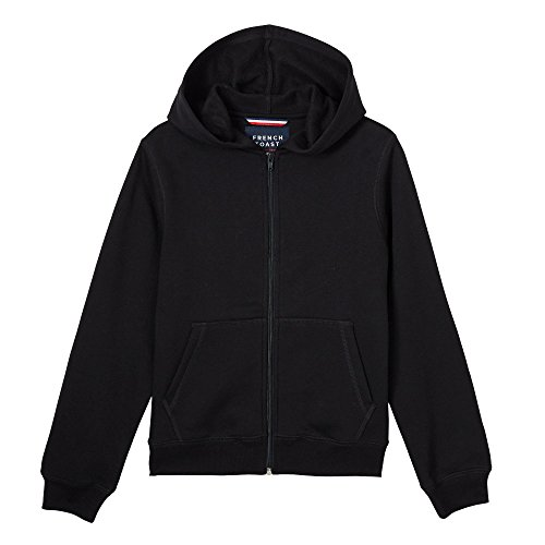 French Toast Little Boys' Fleece Hoodie, Black, (Boys Hooded Fleece Jacket)