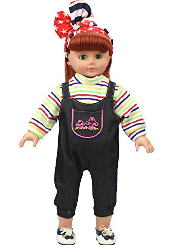 American Doll Clothes Outfit Doll Pajamas For 18 Inch Girl Dolls Christmas Gift New Year Gift Present For Girls (18 Inch Elsa Doll Clothes)