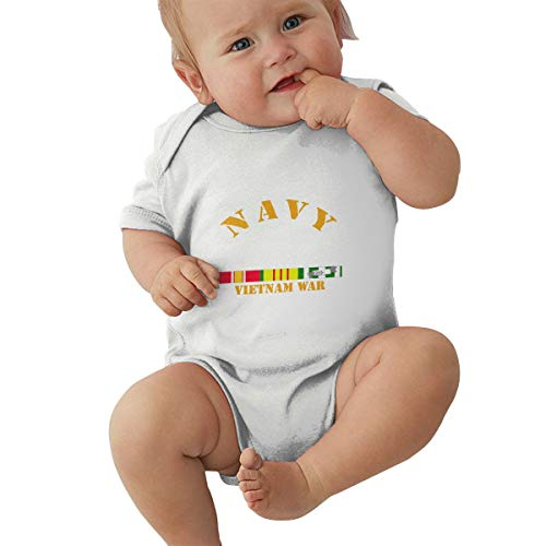 (HUXING Navy - Vietnam War W SVC Ribbons Unisex Baby Bodysuit Boy Jumpsuit Onesies)