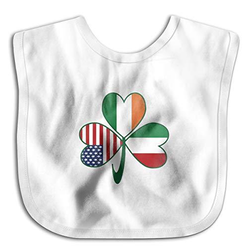 (Robprint Italian Irish American Shamrock Baby Girls' Boys' Burp)