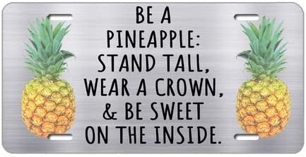 Be a Pineapple Stand Tall Wear a Crown /& Be Sweet Square 3 x 3 Wood Car Charm