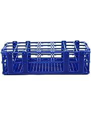 Wobekuy Blue Plastic 21 Holes Box Rack Holder for 50ML Centrifuge Tubes