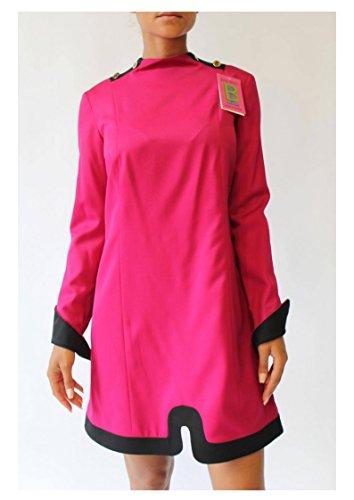 Wool Dress Women's Pink High Bruno Cuffs 100 Neck Couture IERULLO and Italian wqzPtUI