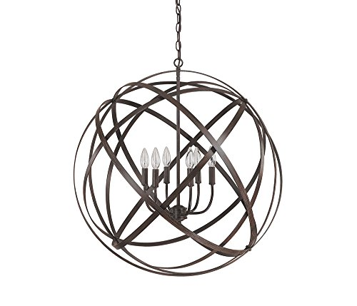 Capital Lighting 4236Rs Axis 6 Light Pendant  Russet Finish
