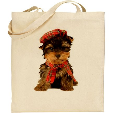 (AB) cucciolo di cane Pup-Borsa in cotone, colore: naturale