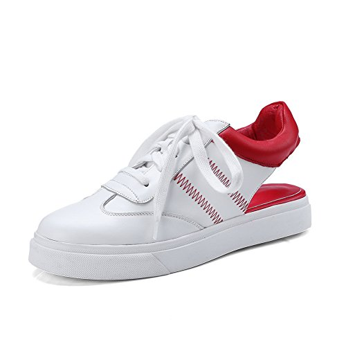 BalaMasa Womens Sandals Cold Lining Hiking Urethane Sandals ASL04383 Red